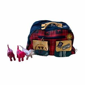 Retired VS Pink University Rolling Duffle Bag